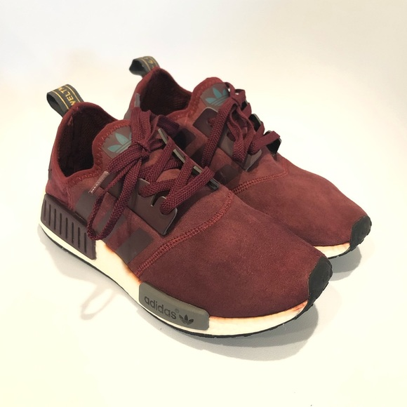 adidas Other - Adidas RARE NMD R1 Suede Maroon Burgundy S75231 1ee2ad6a1d94